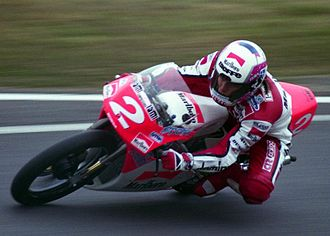 Fausto Gresini - Gresini at the 1992 Japanese Grand Prix.