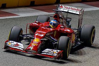 Ferrari F14 T - Image: Fernando Alonso 2014 Singapore FP2