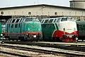 Ferrara - stazione ferroviaria di Porta Reno - locomotive FER D.220.jpg