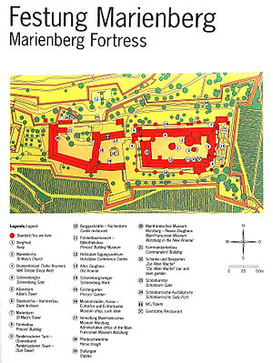 Marienberg Fortress - Map of Festung Marienberg