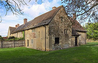 Open-field system - Fiddleford Manor in Dorset, England, a manor house built about 1370. The part of the house in the background was added in the 16th century.