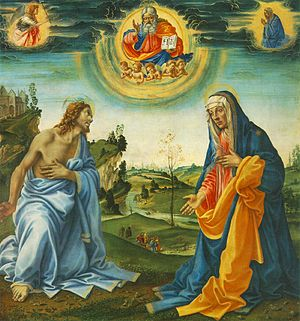 Apparition of Christ to the Virgin - Image: Filippino lippi, apparizione di cristo alla madonna, monaco 1493 circa
