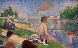 Bathers at Asnières - Final study, 1883, now in the Art Institute of Chicago