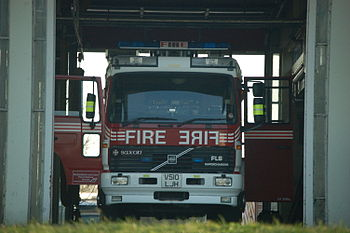 "Volvo fire engine of the ""Bedfordshire an..."