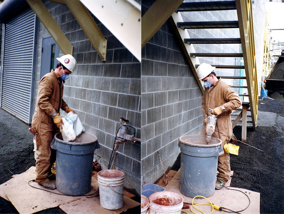 Firestop mortar mixing