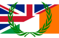 Flag of the United Kingdom and Ireland with laurel wreath.png