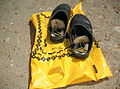 Flickr - Israel Defense Forces - M-16 Bullets Hidden in Palestinian's Shoes (1).jpg