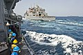 Flickr - Official U.S. Navy Imagery - Sailors wait in formation as the ship makes its approach alongside USNS Charles Drew..jpg