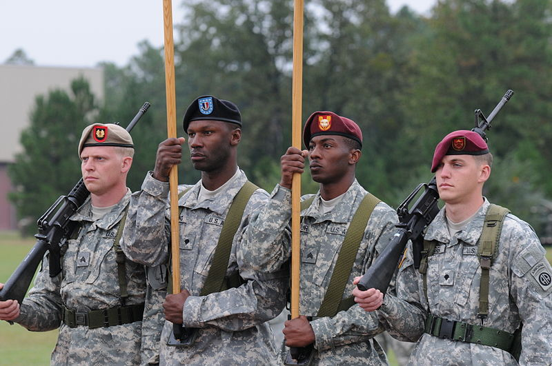 File:Flickr - The U.S. Army - Color guard at Fort Bagg.jpg
