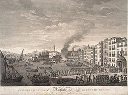 השייטת האנגלו-ספרדית נכנסת לטולון, 1793