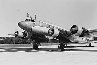 Focke-Wulf Fw 200 Condor - Danish Fw 200 airliner Dania at Fornebu Airport in Norway in 1939, with early single-wheel main gear.