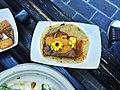 Foie gras and braised short rib taco with arbol chile, flowering herbs - 16721065692.jpg