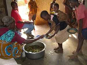 Children of the Nations Feeding Program near L...