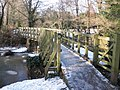 Footbridge, across the mill leat - geograph.org.uk - 1656386.jpg