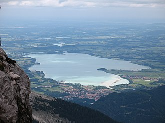 Lech (river) - Image: Forggensee from Kellenspitze