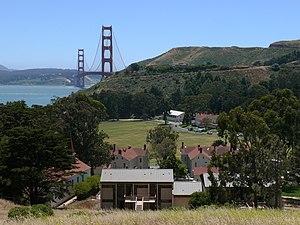 Fort Baker - Fort Baker with the Golden Gate Bridge.
