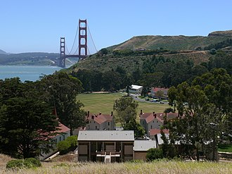 Fort Baker - Fort Baker with the Golden Gate Bridge