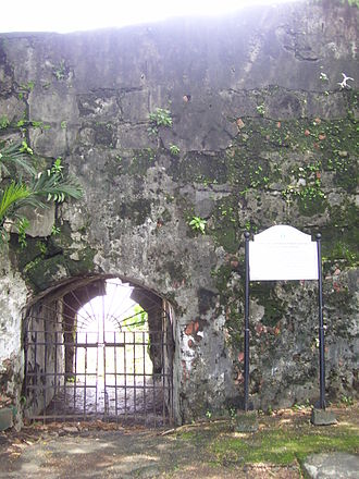 British occupation of Manila - Postern of Our Lady of Solitude through which Anda escaped with most government papers and about half the treasury.