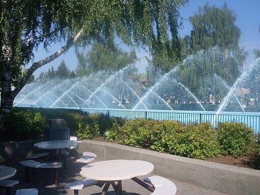 Fountain in Canada's Wonderland, Vaughan, Ontario, Canada - 20110717