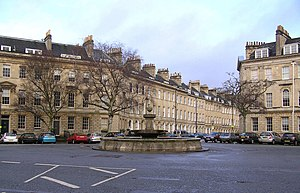 Laura Place, Bath - Fountain in Laura Place, Bath