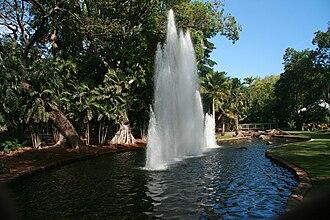 George Brown Darwin Botanic Gardens - Fountain