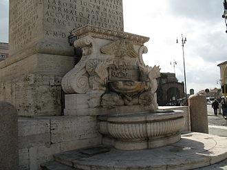 Domenico Fontana - Fountain in the pedestal of the Lateran obelisk, designed by Fontana