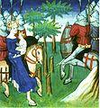 Frédégonde et Clotaire II à la tête de l'armée contre Childebert II.JPG