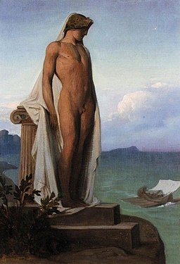François-Léon Bënouville (1821-1859). The shadow of Achilles appearing to the Greeks