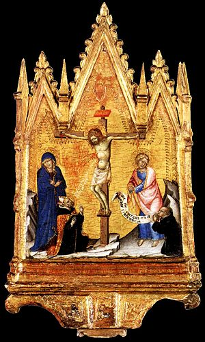 Francesco di Vannuccio - Crucifixion with Donor by Francesco di Vannuccio, 1380