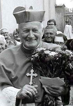 František Tomášek - Cardinal František Tomášek – memorial plaque in Moravská Huzová