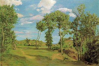 1870 in art - Image: Frederic Bazille Paysage au bord du Lez