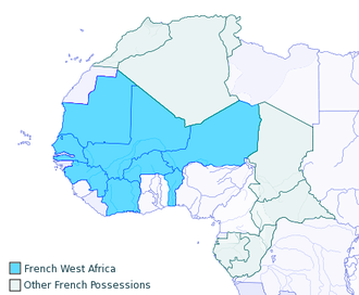 Mali Federation - Colonies of French West Africa