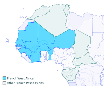 Carte De Lafrique Equatoriale Francaise.Afrique Occidentale Francaise Wikipedia