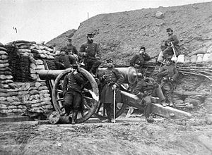 Artillery - French soldiers in the Franco-Prussian War 1870–71.