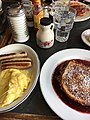 French toasts and scramble eggs at Sneakers Bistro, Winooski, Vermont.jpg