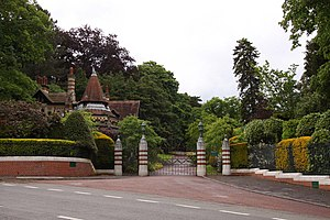Ballad of Sir Frankie Crisp (Let It Roll) - The entrance to Friar Park, including caretaker's lodge; photo by Steve Daniels