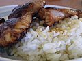 Fried chicken thighs with rice.jpg