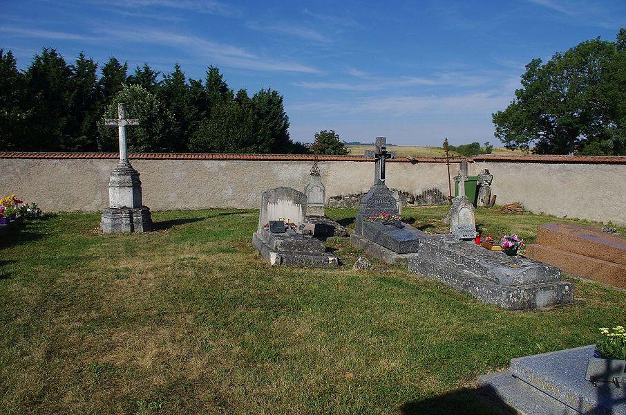 Lahayville im Department Mosel in Lothringen. Der Friedhof des Ortes.