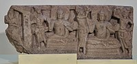 Frieze with Buddha Figures - Limestone - Circa 3rd Century AD - Amravati - Archaeological Museum - Amravati - Andhra Pradesh - Indian Buddhist Art - Exhibition - Indian Museum - Kolkata 2012-12-21 2340.JPG