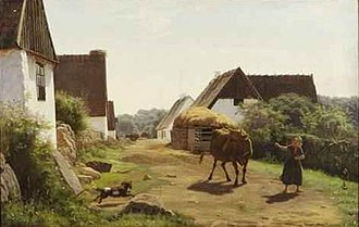 Didrik Frisch - Scene with Woman and Cow