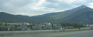 Frisco, Colorado - View of Frisco from the highway going south