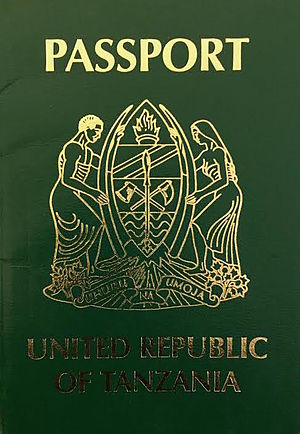 Tanzanian passport - The front cover of a contemporary Tanzanian passport