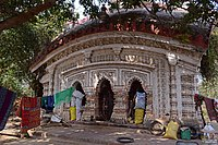 Front view of Jorbangla temple at Chandrakona located at Ghatal subdivision of Paschim Medinipur district of West Bengal.jpg