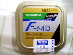 Fujifilm - A 100-foot tin of 16 mm Fujifilm