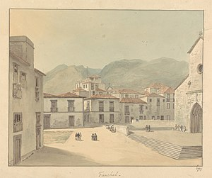 Funchal, Madeira - A Square with a Church by Samuel Davies.jpg