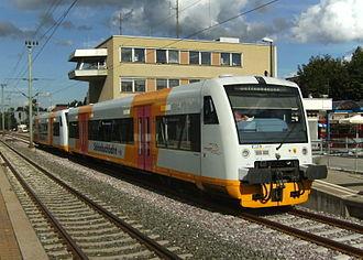 Schönbuch Railway - Image: Gäubahn Schönbuchbahn Böblingen