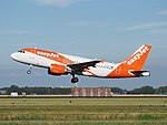 G-EZFY easyJet Airbus A319-111 cn4418 takeoff from Schiphol (AMS - EHAM), The Netherlands pic3.JPG