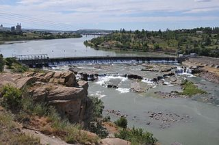 Great Falls (Missouri River) series of waterfalls on the Missouri River