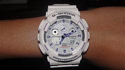 1838e0d7275 Clássico G-Shock branco GA100A-7A