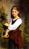 Gardner-A Young Girl Holding A Basket Of Grapes.jpg